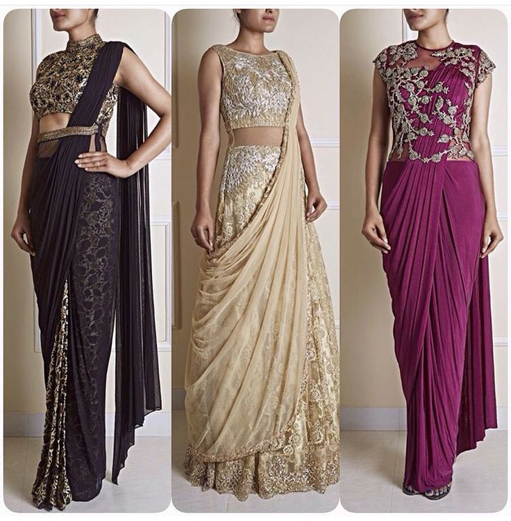 Stiched sarees