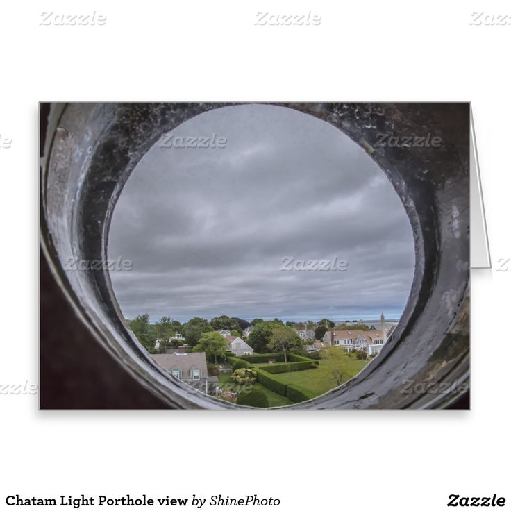 Chatam Light Porthole view Greeting Card