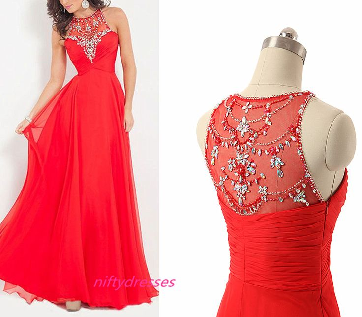 Sexy Prom Dress,Long Evening Party Dress,Red Formal Party