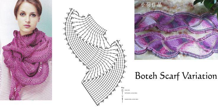 Crochet Boteh Scarf Variation