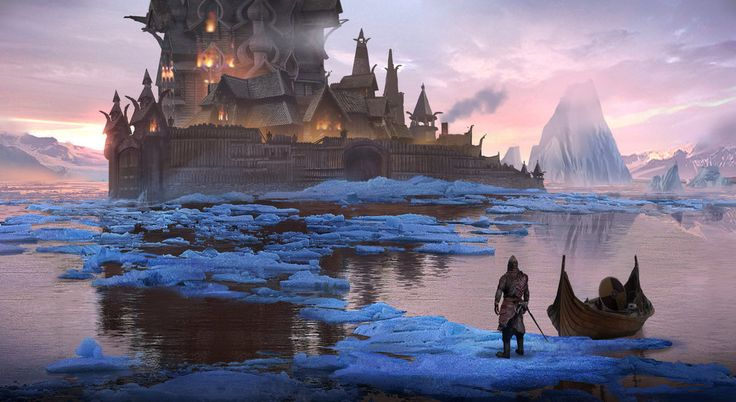 fantasy concept art. inspired by the great towns of skyrim, lotr, and icewind dale follow me on facebook for more art:www.facebook.com/eddie.mendoza…