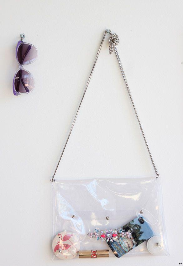 Une touche de rose: blog mode, photos, beauté, DIY, voyage, déco, cuisine: Le sac transparent à strass :: DIY