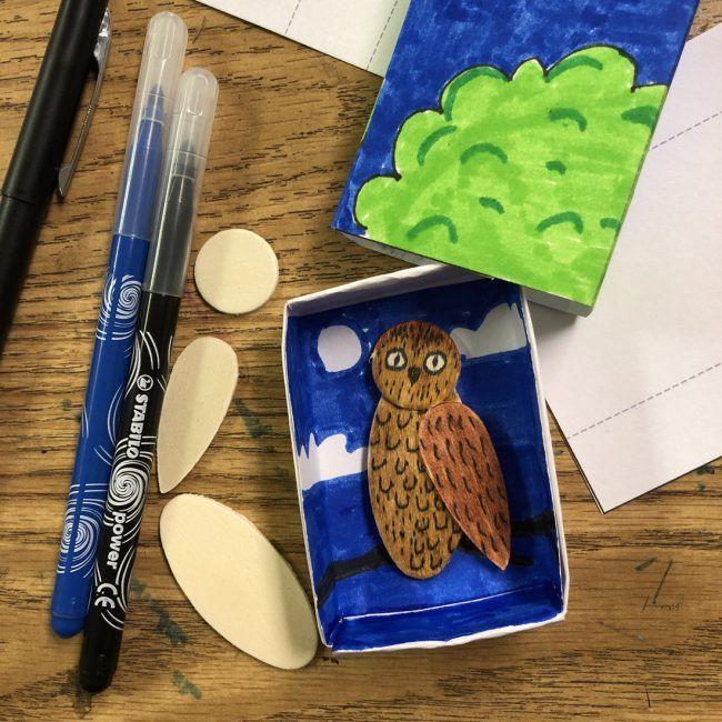 Matchbox Owl Art Project