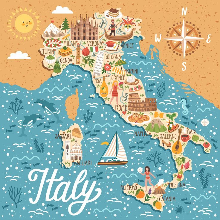 karte italien strände 7 BESTE STRÄNDE IN ITALIEN   #beste #Italien #Strände | Italien