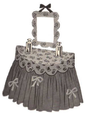 Make a fab vintage style dressing table cover