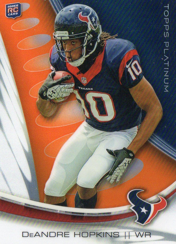2013 Topps Platinum DeAndre Hopkins Rookie Orange Refractor Houston Texans