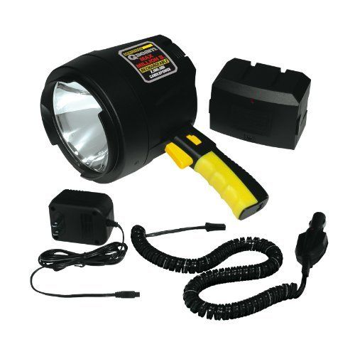 Brinkmann 800-2655-2 Max Million II Rechargeable Spotlight by Brinkmann. $34.68. From the Manufacturer                Powerful rechargeable spotlight provides cordless operation for portability.                                    Product Description                Pierce the darkness! Brinkmann Max Million II 2 Million Candlepower Spotlight is rechargeable! Rechargeable and even more portable! Runs directly from the corded 12V adapter plug or off a take-along 12V...