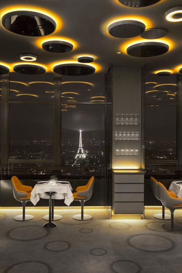 Skilled Modern Design Composition and Remarkable Views: Ciel de Paris Restaurant