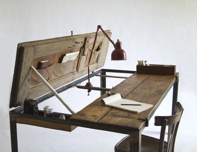 Scrivania rustica legno