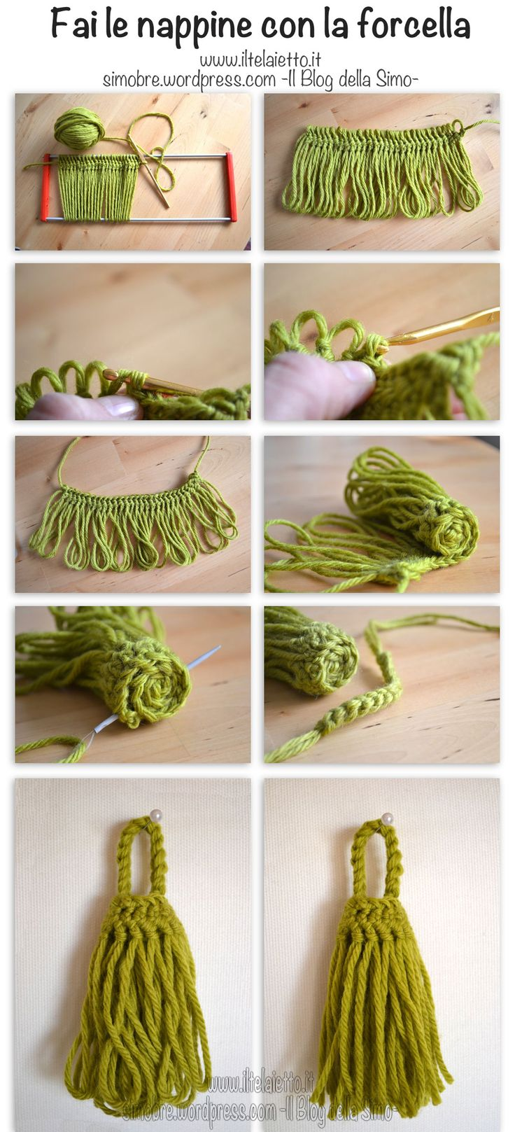 Tutorial - tassel with hairpin lace (only photo)