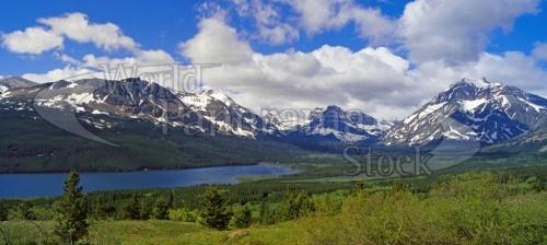 Two Medicine Lake, Lewis Range and Continental Divide, Glacier N