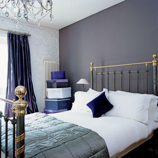 Bedroom Design Colors Ideas Bedroom Design Purple Coral Bedroom Curtains 3 Bed Bedroom Designs: Dark Accent Wall การใช้ผนังห้อง
