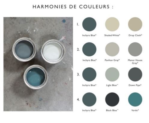 Farrow ball inchyra blue palette couleurs mati res for Couleur farrow and ball