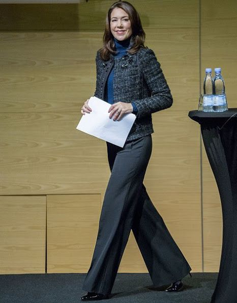"Crown Princess Mary opens the SFI (The Danish National Centre for Social Research) Conference ""Education and vulnerability"" with Mary Foundation in DGI-Byen Town on Nov 7, 2016 in Copenhagen."
