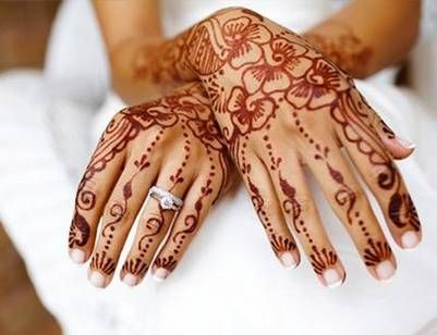 I love this. It is a Moroccan Tradition for a woman to have a Henna party the night before her wedding and her hands and feet are given intricate designs. So awesome.