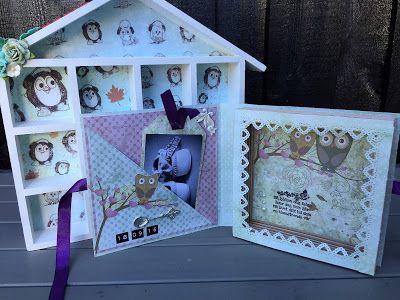 Hekta på papirkunst: Bok kort til baby
