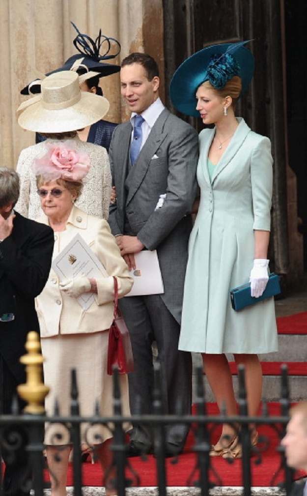 Lord Frederick Windsor and his sister Lady Gabriella Windsor exit the Westminster Abbey after the Royal Wedding 2011