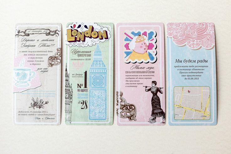 English style invitations