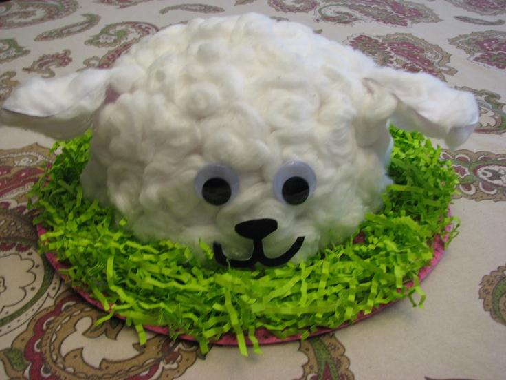 Lamb Easter Bonnet