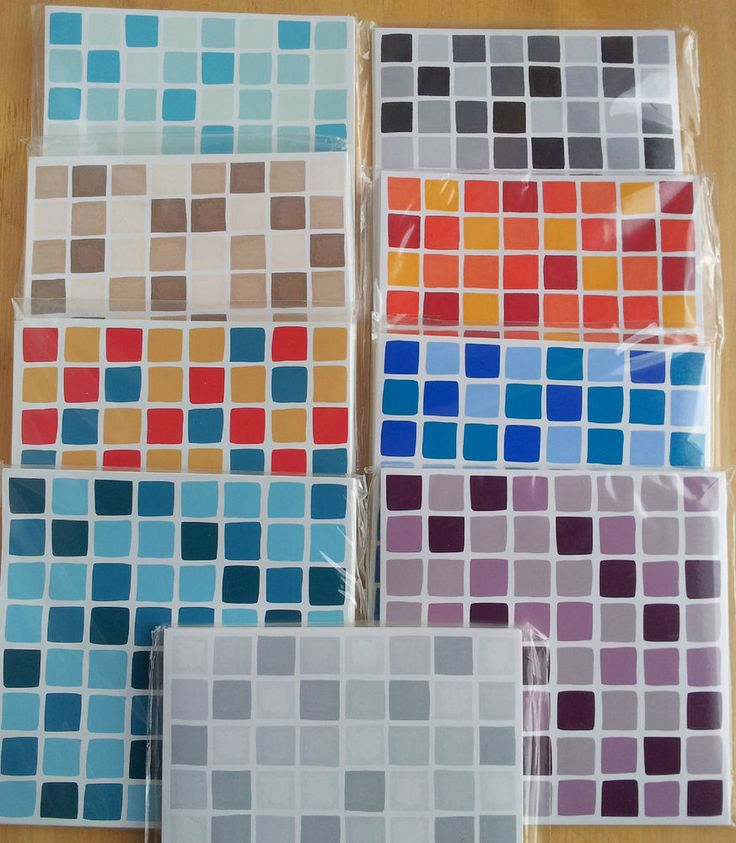 Details About Mosaic Transfer Tiles Stickers Self Adhesive