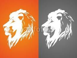 Lion silhouette - idea for tattoo @Ashley Grant  I like this face