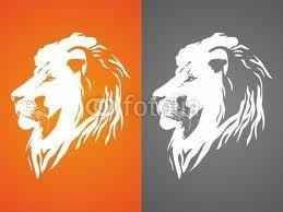 Lion silhouette - idea for tattoo