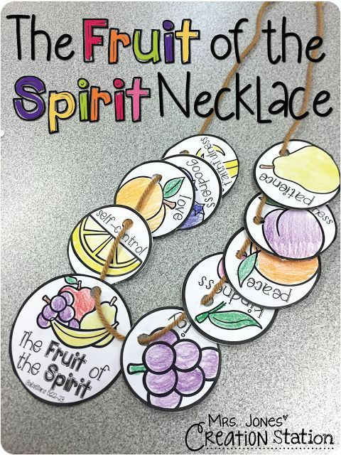 The Fruit of the Spirit Necklace (free printable to download, print, color and craft necklace)