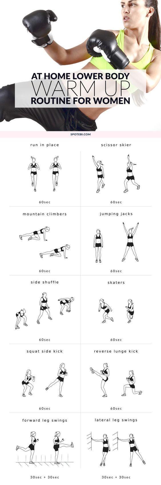 Warm Up Routines lower body spotebi
