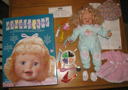 Amazing Amy Doll Complete With Food 2 Outfits Box