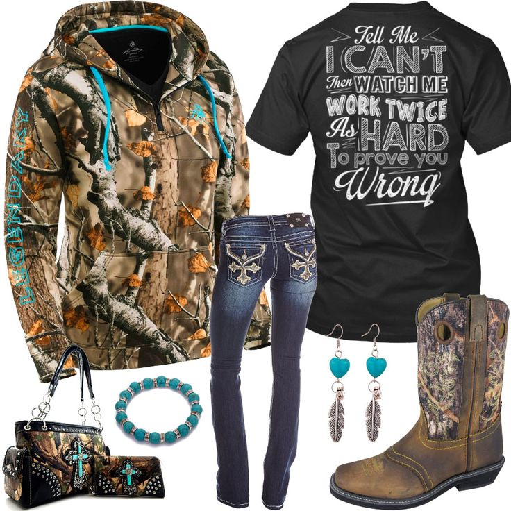 Tell Me I Can't Camo Square Toe Boots Outfit - Real Country Ladies