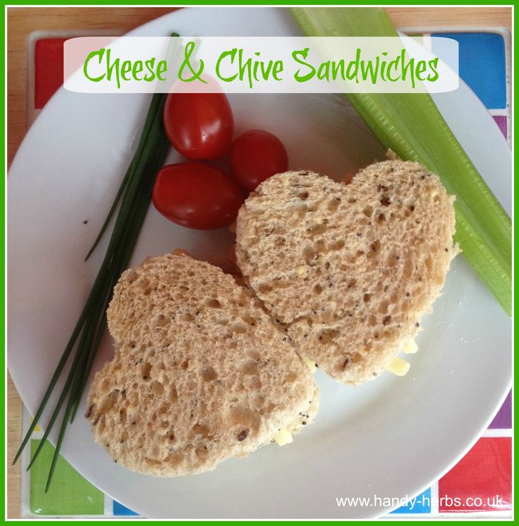 Cheese and Chive Sandwiches are easy for children to make. Adding the chives gives a bit of extra taste and makes the sandwich healthier.