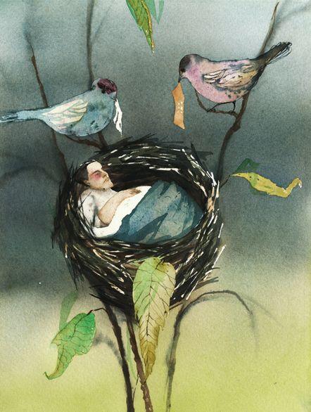 Kati Immonen From series Talvisatu: Toipilas, 2012 Watercolour, 32 x 24 cm