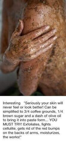 Food Ingredient Body Scrub #DIY #natural