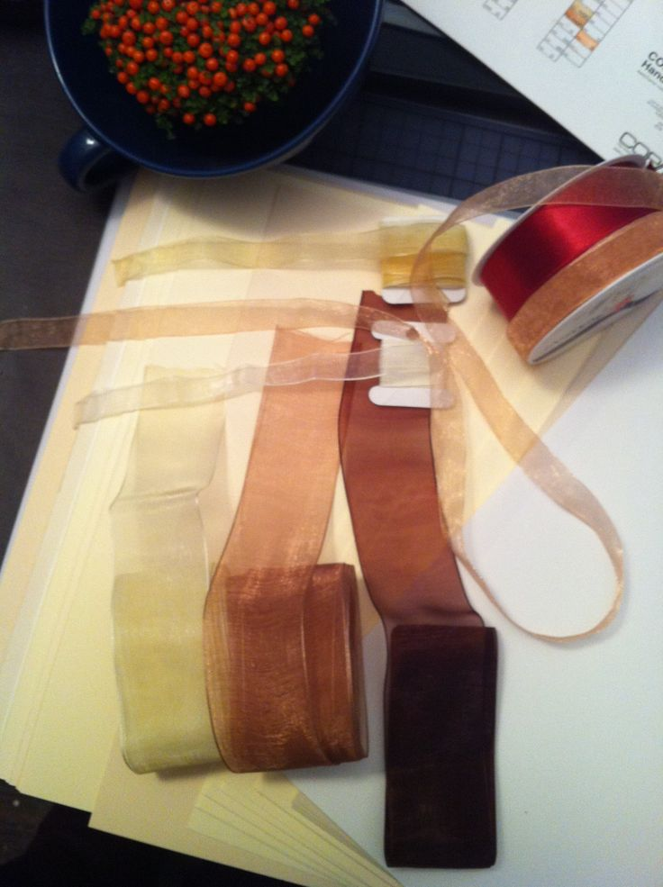 ribbon and paper sampling