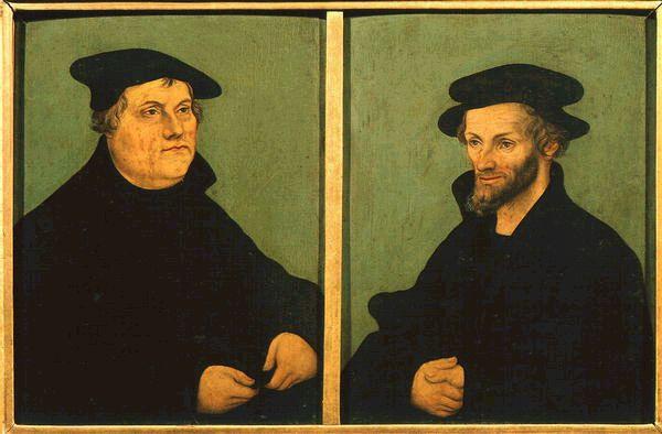 I soggetti rappresentati nella seguente slide sono Martin Lutero e Giovanni Calvino: due grandi esponenti del XVI secolo.