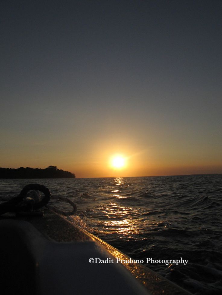 Sunset In The Middle of the sea