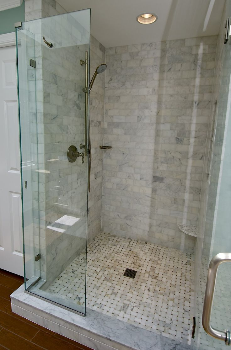 13 best marble images on pinterest marble tiles for Marble subway tile bathroom