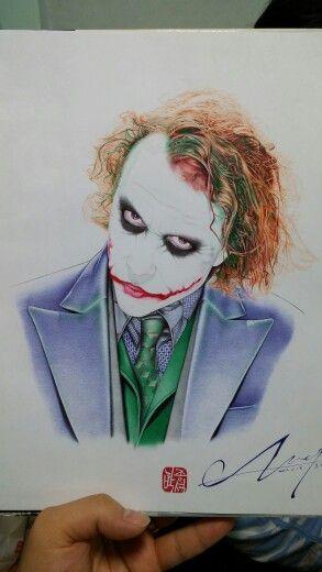 조커 볼펜화 Joker  ballpoint pen art!  #볼펜화 #볼펜그림 #인물화 #손그림 #일러스트 #미술디자인 #영화 #배우 #히스레저 #그림쟁이 #일상 #조커 #다크나이트 #daily #good #like #ballpen pic #batman #art #drawing #instagram #movie #joker #the dark knight #artwork #illust
