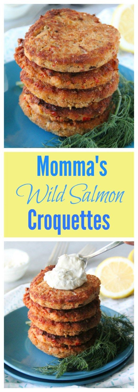 Soul Food Recipe | These quick, easy and fresh Wild Salmon Croquettes will take you right back to your southern breakfast roots!! Try them for dinner with a creamy dill sauce too!!