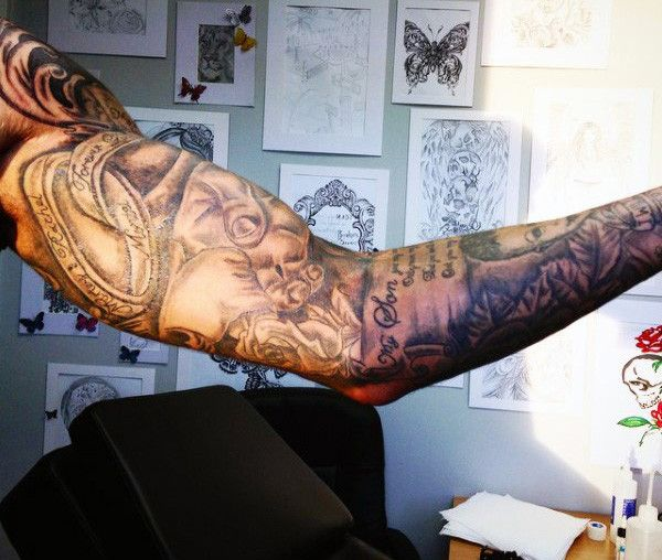 Sleeve Father And Son Tattoo For Men