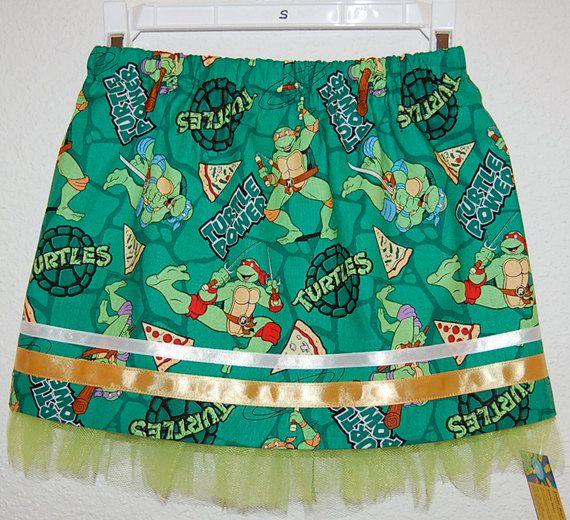 Teenage Mutant Turtles print girl's skirt by DaleRaeDesigns