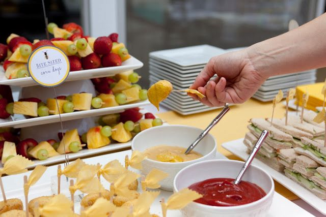 Cute foods for baby showers