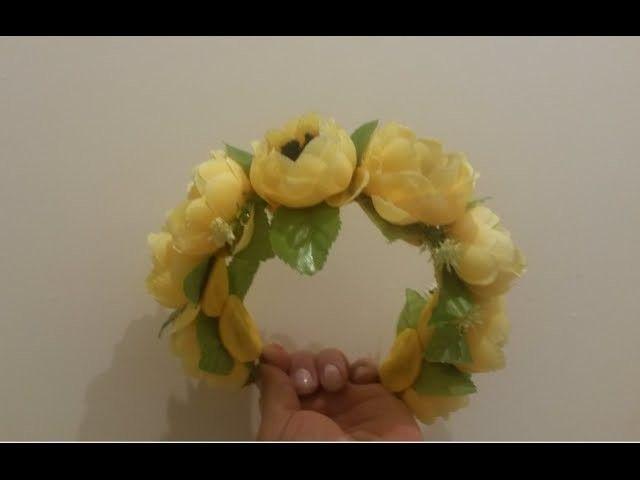 DIY Летний венок для волос. Summer wreath for hair