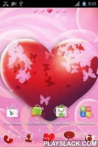 Theme Hearts For GO Launcher  Android App - playslack.com ,  Dit thema biedt grote rode hart gekleed in verschillende grootte, roze vlinders. Dit alles op zoete achtergronden - helder, schattige roze of mooi in combinatie roze met blauw - zowel uit in prachtige behang. In de hoeken nog meer harten in de vorm van bellen. Is het niet schattig? Thema bevat ook schattige roze panelen en pictogrammen met vlinders op hen, op zoek als ze konden wegvliegen elke minuut. Gewone pagina nummering werd…