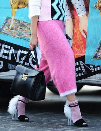 street style...I actually like this...esp da Lucite heel