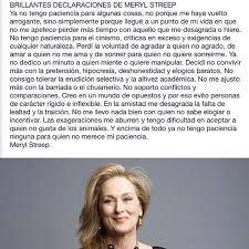 Resultado de imagen de frases de meryl streep en español