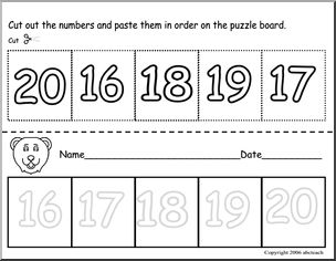 17 Best images about Numbers 16-20 on Pinterest | Cut and paste, Teen ...