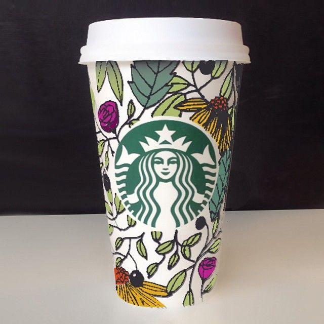 Starbucks Cup Art by patricia_zapata. #WhiteCupContest