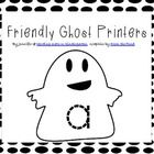 "Here's a fun, ""friendly ghosts"" alphabet tracer set! Just laminate and cut out the cards and then students can trace them and match upper to lower ..."