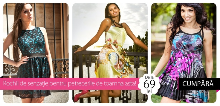 Ziceţi DA satinului plisat, toamna asta, la petreceri!    Îl găsiţi la 69-79-99 lei, într-o colecţie specială de rochii, pe http://www.tinar.ro/colectii/carmencita.html.    ENJOY!